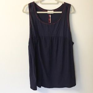 NWT Universal Thread Embroidered Tank - 3X
